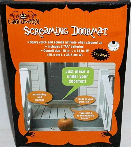 Ghouldoween Halloween Screaming Doormat (Measures 10