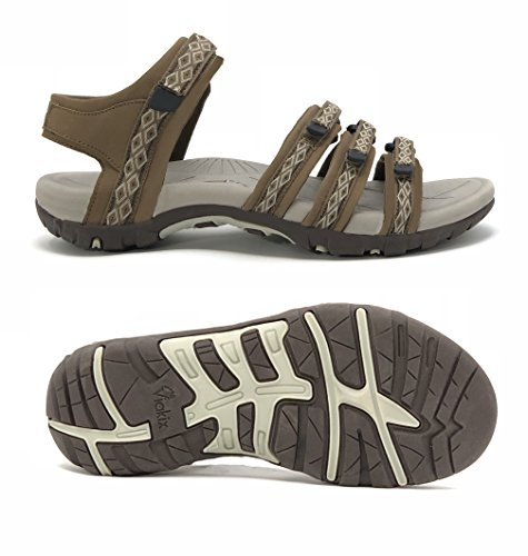 Viakix Hiking Sandals for Women - Comfortable Athletic Stylish Sandal for Walking, Outdoors, Water, Sports, Beach