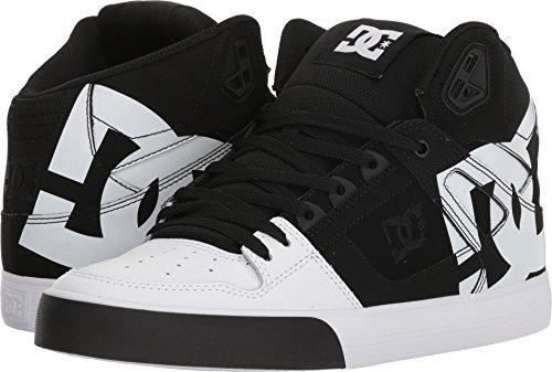 3a18c2f25db6e DC Men's Pure High-Top WC SP Skate Shoe, Black/Black/White, 6 D D US