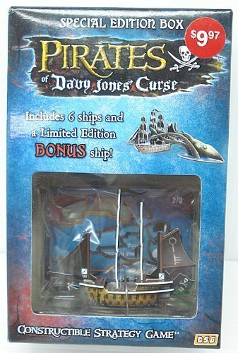 Pirates of Davy Jones Curse Constructible Strategy Game Special Edition Box with Broken Key Bonus Ship by WizKids