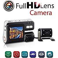 iMeshbean HD Dual Lens Car DVR Dash Cam 2 Vehicle Rearview Camera Video Recorder G-Sensor