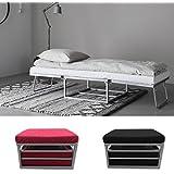 Bagno Italia Pouf letto recrinabile in microfibra moderno divano letto estraibile disponibile in vari colori