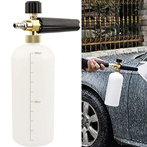 ❤️Jonerytime❤️Adjustable Pressure Washer 1 Liter Foam Pot Spray Cleaning Quick Release Foam White
