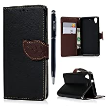 HTC Desire 626 / 626s Case -MOLLYCOOCLE®[Natural Luxury Black]Stand Wallet Purse Credit Card ID Holders TPU Soft Bumper PU Leather Ultra Slim Fit Cover for HTC Desire 626 / 626s