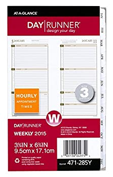 Day Runner Weekly Planner Refill 2015, 3.75 X 6.75 Inch Page Size (471-285y) 0