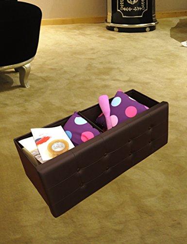 Sodynee Faux Leather Folding Shoe Storage Ottoman Cubes