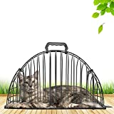 LUCKSTAR Cats Cage - Steel Wire Pet Cat Puppy Shower Cage Multi-functional Double Door Cats Cage for Injection Anti Scratch or Bite Washing Shower Bath Cage (S) (Black)
