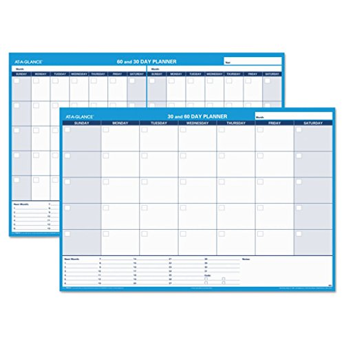 - AAGPM23328-36 x 24 - at-A-Glance 30-Day/60-Day Format Reversible/Erasable Undated Wall Planner - Each