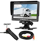 "LeeKooLuu Rear View LCD Monitor 7"" Display for Car/Truck/Camper/Van/RV/Motorhome/Trailer Full Color Wide Screen Display Fixed on Dash/Windshield for Backup Camera Rear View Systems Review"