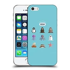 Super Galaxy Coque de Protection TPU Silicone Case pour // V00000523 Mar Animales Set // Apple iPhone 5 5S 5G SE