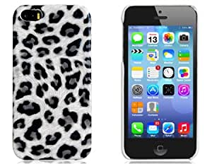 Leopard Skin Plastic Case for iPhone 5S/ 5 (White)