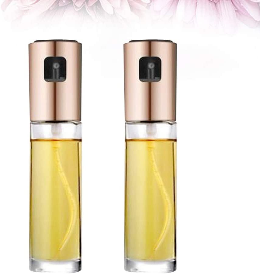 DOITOOL 2 Pcs Olive Oil Sprayer Dispenser Mister Bottle Portable Glass Vinegar BBQ//Cooking//BBQ//Salad//Baking//Roasting Gold