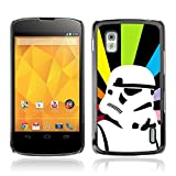 CASETOPIA / Retro Colorful Stormtrooper Star Wars / LG Google Nexus 4 E960 / Black Hard Back Case Cover Shell Armor Protection