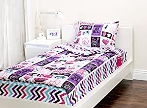 Amazon Com Zipit Bedding Set Rock Princess Full Home