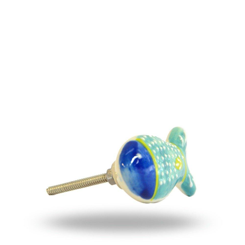 Trinca-Ferro Bouton en c/éramique Jamie en forme de poisson