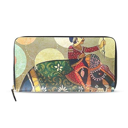 Womens Zipper Wallet Africa Elephant Clutch Purse Card Holder Bag by WIHVE
