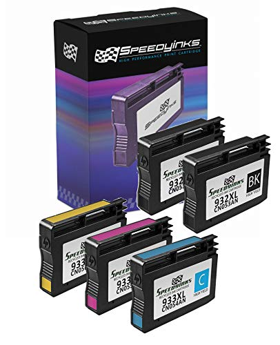 Speedy Inks Remanufactured Ink Cartridge Replacement for HP 932XL CN053AN High Yield (Black, 5-Pack) (Hp 932xl Black Ink Cartridge Cn053an High Yield)