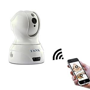 YANX Full HD Wireless Smart PTZ Cloud IP Camera,WIFI & Wired Video Monitoring,IR Night Vision,Two-ways Audio Talk,Multiple People Veiwing, Phone Alarm,Quick Setup,Plug& Play Monitor