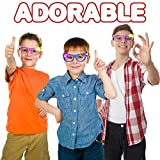 12 Pack LED Light Up Glow Glasses by ArtCreativity - Novelty Party Favors for any Celebration; Kids Birthday, Wedding, Pool & Theme Parties - Super Durable Plastic Shades - Popular Cute Kitty Design