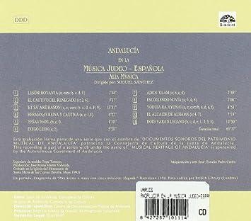 Musica Judeo-Española: Alia Musica Sánchez; Miguel, Anónimo: Amazon.es: Música