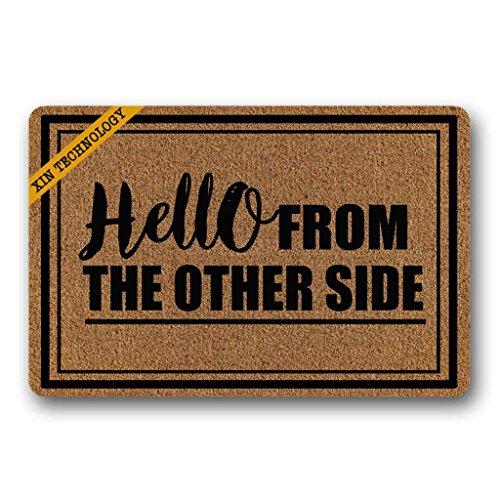 Artsbaba Doormat Hello from The Other Side Door Mat Machine...