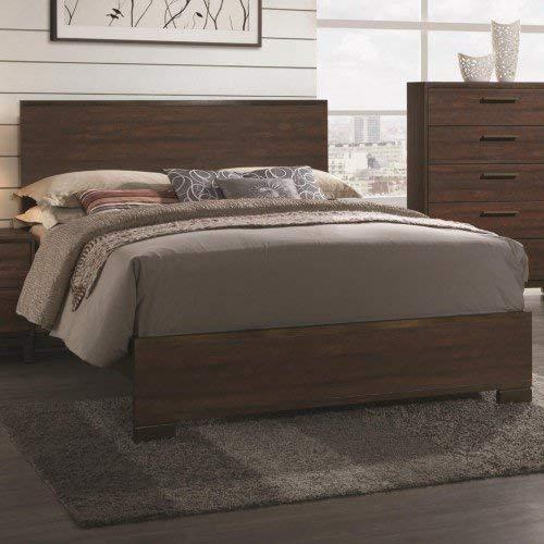 Coaster Home Furnishings 204351KE Panel Bed, 78.75'' W x 83.75'' D x 47.75'' H, Rustic Tobacco/Dark Bronze
