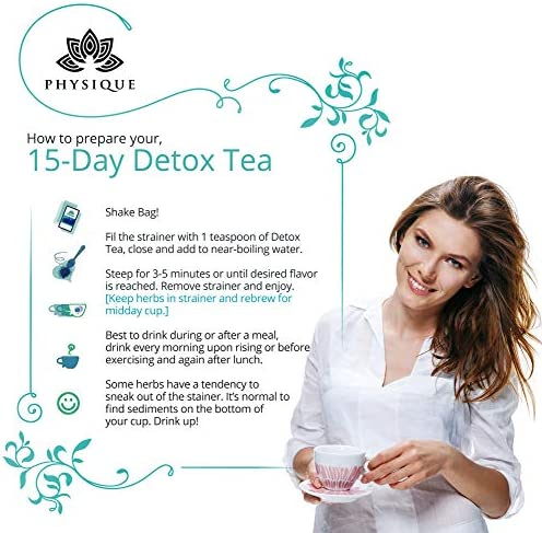 15 Day Natural Weight Loss, Detox and Cleanse Tea   Bloating Relief Total Tea for Appetite Suppressant   Garcinia Fitness Tea   Anti-Inflammatory and No Harsh Laxatives Teatox   Detox Diet Included 4