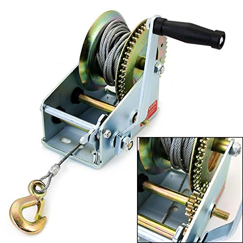 Generic NV_1008001890_YC-US2 WinchB B Winch Hand d Win Heavy Duty 2500LB nd Cr Crank Manual anual Boat Hand raile RV Trailer Winch Heavy D
