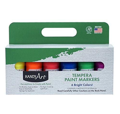 Handy Art 6 color - 2 ounce Fluorescent Tempera Paint Mar...