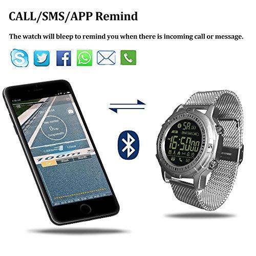 Smart Watch, Zeblaze VIBE II Smart Bracelet, Outdoor 5ATM Waterproof Smartwatch, Multifunctional Sport Fitness Trackers with Steps Counting, Distance, Alarm, Stopwatch (Black)