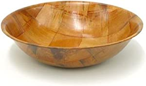 Winco WWB-8 Wooden Woven Salad Bowl, 8-inch a Set of 4