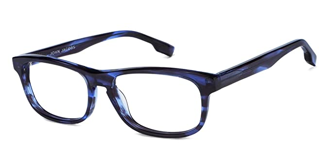 b9f5459d950 Image Unavailable. Image not available for. Colour  John Jacobs Blue  Tortoise Full Rim Rectangle Medium Eyeglasses (120626