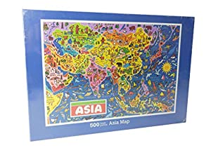 Asia Map Jigsaw Puzzle by James Hamilton Grovely Amazoncouk