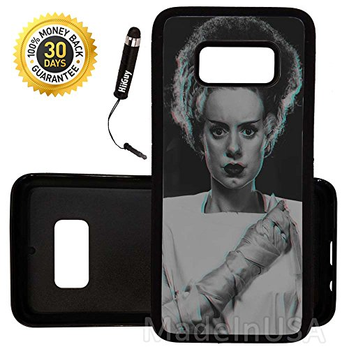 Custom Galaxy S8 Case (Bride of Frankenstein) Edge-to-Edge Rubber Black Cover Ultra Slim | Lightweight | by Innosub