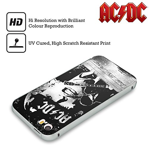 Officiel AC/DC ACDC Casser La Baraque Paroles Argent Étui Coque Aluminium Bumper Slider pour Apple iPhone 6 Plus / 6s Plus