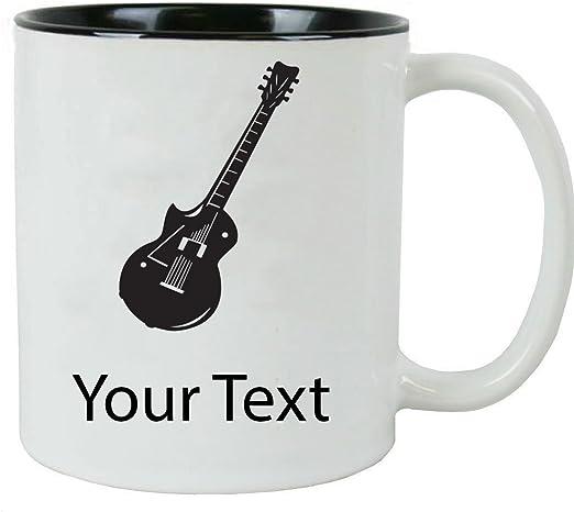 Guitarra eléctrica de encargo personalizado 11 oz de cerámica ...