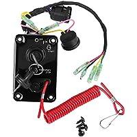 Qiilu 12V Single Key Switch Panel Assembly for Yamaha Outboard Yacht 704-82570-12-00