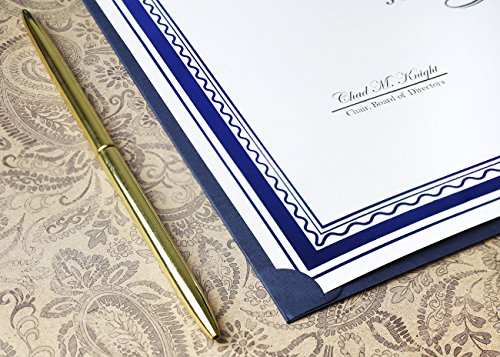 12-Pack Certificate Holder - Diploma Cover, Document Cover for Letter-Sized Award Certificates, Blue, 11.2 x 8.7 inches by Best Paper Greetings (Image #7)