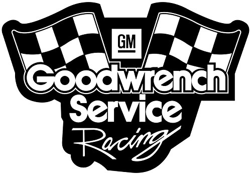 Gm Goodwrench Racing - Gm Goodwrench Service Racing Vinyl White Sticker 12'' Width By 8.5'' Height