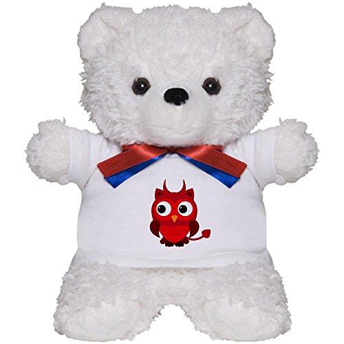 [Teddy Bear White Little Spooky Owl Devil Monster] (Evil Teddy Bear Halloween Costume)