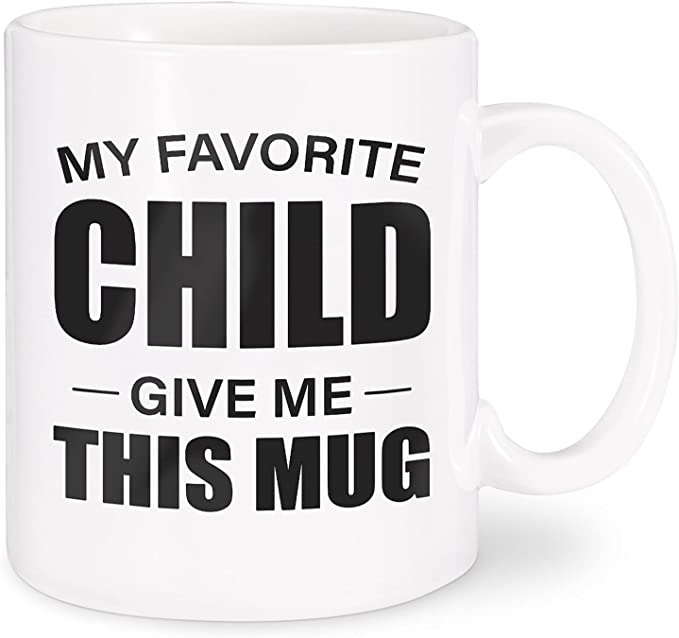 Funexara Best Fathers Day Gifts for Dad - My Favorite Child Give Me This Mug-11oz Novelty Funny Coffee mugs for Dad from Daughter,Son,Kids- Birthday Present Ideas, Large White Ceramic Tea Cup