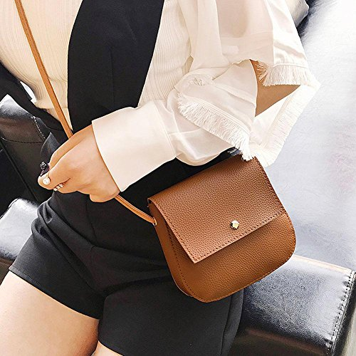 Handbag Shell Small PU Messenger Bag Crossbody Brown Widewing Phone Women Leather Shoulder vx4Tw1A