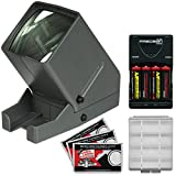 Zuma SV-3 LED 35mm Film Slide Viewer with 4 Batteries & Charger + Kit