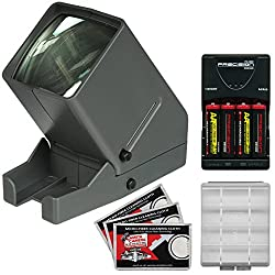 Zuma Sv-3 Led 35mm Film Slide & Negative Viewer With 4 Batteries & Charger + Kit