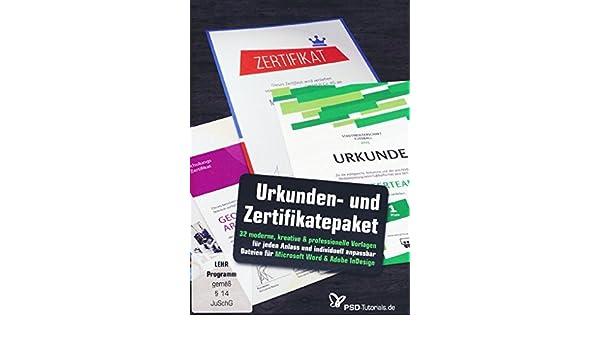 Großes Urkunden Und Zertifikatepaket Anna Demianenko Dennis