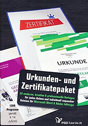Großes Urkunden Und Zertifikatepaket Amazonde Software