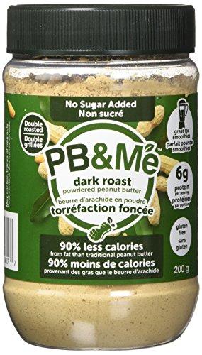 PB&Me DARK ROAST Powdered Peanut Butter - No Sugar Added, - Powder Butter Pb Fit Peanut