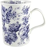 Roy Kirkham Blue Rose English Chintz Coffee or Tea Mug Fine Bone China