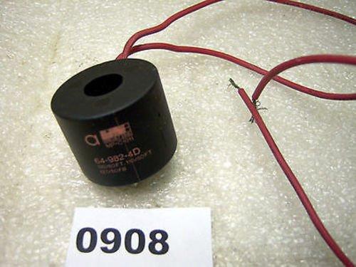 NEW ASCO 64-982-4-D SOLENOID VALVE. Replacement Operation Coil. For Shut-off Valve, 120V 60Hz, 127V 50Hz, 110V - Solenoid Coil Asco