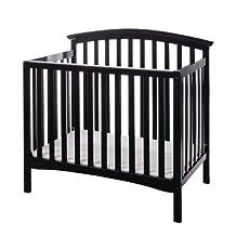 Dream On Me Eden 4 in 1 Convertible Mini Crib, Black